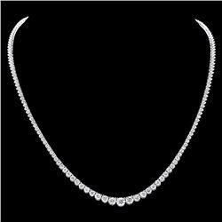 ^18k White Gold 8.50ct Diamond Necklace