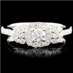 18K Gold  0.71ctw Diamond Ring