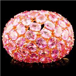 18K Rose Gold 14.18ct Sapphire & 0.71ctw Diamond R