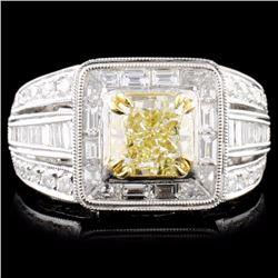 18K Gold 2.85ctw Fancy Diamond Ring