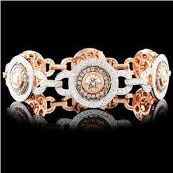 18K Rose Gold 7.75ctw Diamond Bracelet