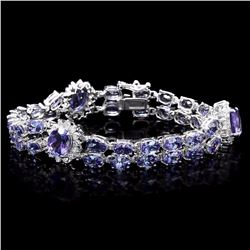 `14k Gold 22ct Tanzanite 1.50ct Diamond Bracelet