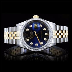 Rolex YG/SS DateJust Men's 1.50ct Diamond Watch