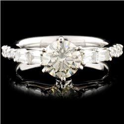 18K White Gold 1.50ctw Diamond Ring