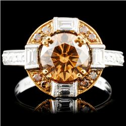 14K Gold 2.85ctw Fancy Color Diamond Ring