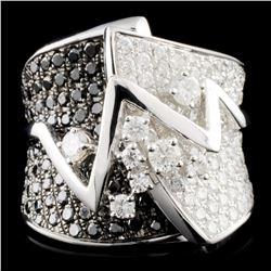 18K Gold 3.21ctw Fancy Color Diamond Ring