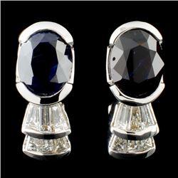 18K Gold 3.52 Alexandrite & 3.52ctw Diamond Earrin