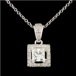 14K Gold 0.66ctw Diamond Pendant