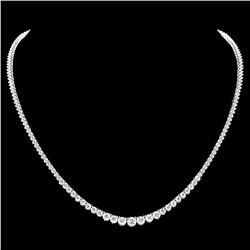 ^18k White Gold 9.20ct Diamond Necklace
