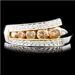 14K Gold 0.73ctw Fancy Color Diamond Ring