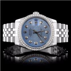 Rolex SS DateJust 1.50ct Diamond Wristwatch