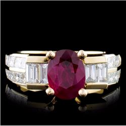 14K Yellow Gold 1.23ct Ruby & 1.97ct Diamond Ring
