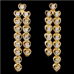 14K Yellow Gold 1.00ct Diamond Earrings