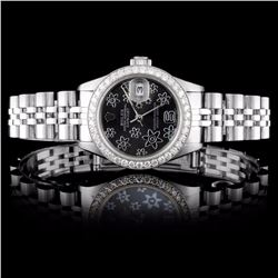 Rolex SS DateJust Ladies 1.00ct Diamond Wristwatch