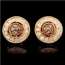 14K Gold 0.40ctw Fancy Diamond Earrings