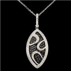 14K Gold 0.92ctw Fancy Color Diamond Pendant
