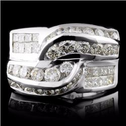 18K White Gold 2.18ctw Diamond Ring