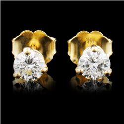 14K Gold 0.46ctw Diamond Earrings