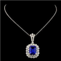 18K White Gold 3.80ct Tanzanite & 1.65ct Diamond P