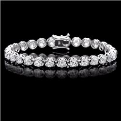 ^18k White Gold 9.50ct Diamond Tennis Bracelet