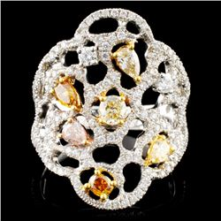 18K Gold 1.31ctw Fancy Color Diamond Ring