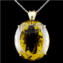 14K Gold 25.0ct Citrine Pendant