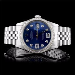 Rolex SS DateJust Men's 1.50ct Diamond Watch