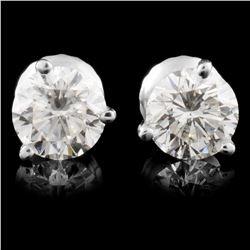 14K Gold 1.32ctw Diamond Earrings