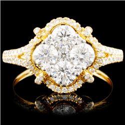 14K Gold 1.45ctw Diamond Ring