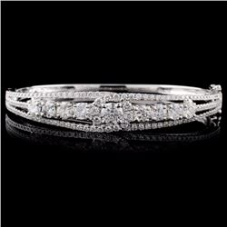 18K White Gold 1.18ctw Diamond Bangle