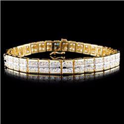 14K Gold 8.00ctw Diamond Bracelet
