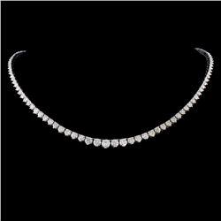 14K Gold 8.60ctw Diamond Necklace