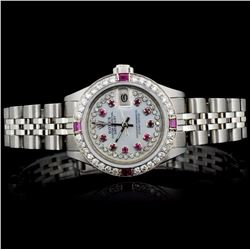 Rolex SS DateJust 1.00ct Diamond Ladies Watch