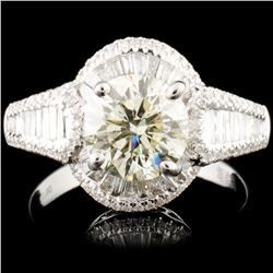 18K Gold 2.59ctw Diamond Ring