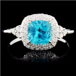 18K Gold 0.70ct Apatite & 0.29ct Diamond Ring