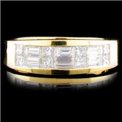 18K Gold 0.78ctw Diamond Ring