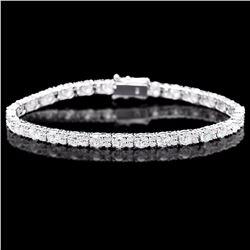 ^18k White Gold 8.70ct Diamond Bracelet