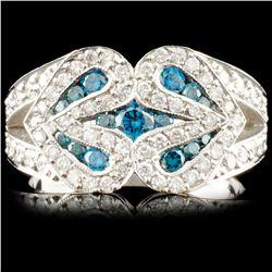 18K Gold 0.92ctw Fancy Color Diamond Ring