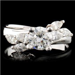 18K Gold 0.77ctw Diamond Ring