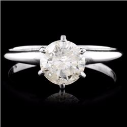 14K Gold 0.92ct Solitaire Diamond Ring