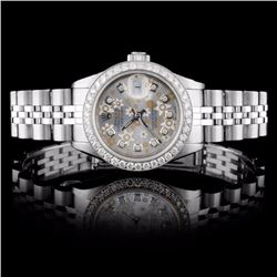 Rolex SS DateJust Ladies 1ct Diamond Wristwatch