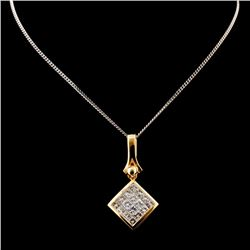 18K Yellow Gold 1.00ctw Diamond Pendant