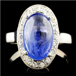 14K Gold 3.00ct Tanzanite & 0.70ctw Diamond Ring