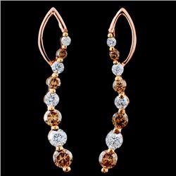 14K Gold 0.90ctw Fancy Diamond Bracelet
