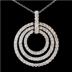 14K Gold 3.15ctw Diamond Pendant