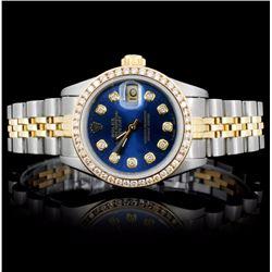 Rolex YG/SS DateJust Ladies 1.00ct Diamond Watch
