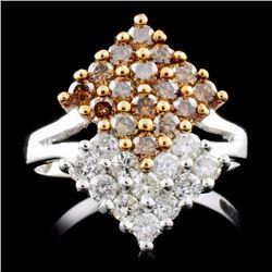 14K White Gold 1.20ctw Fancy Diamond Ring