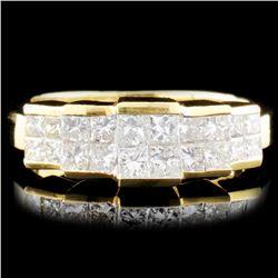 18K Gold 1.48ctw Diamond Ring