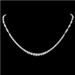 ^18k White Gold 5.80ct Diamond Necklace