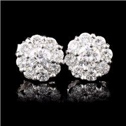 18K White Gold 1.16ctw Diamond Earrings